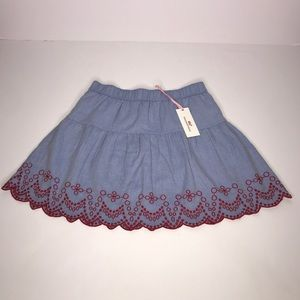 Vineyard Vines Embroidered Flounce Skirt Size: XXS